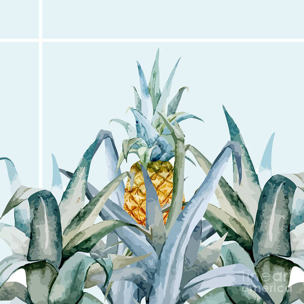Shower Curtain Painting - Tropical Feeling  by Mark Ashkenazi