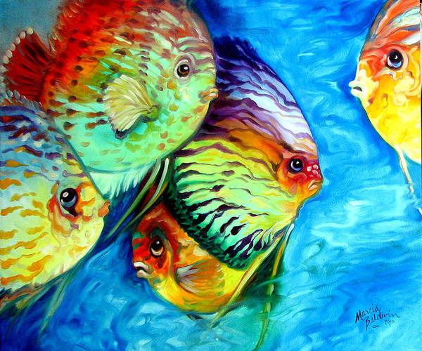 Painting - Tropical Fish Colors by Marcia Baldwin