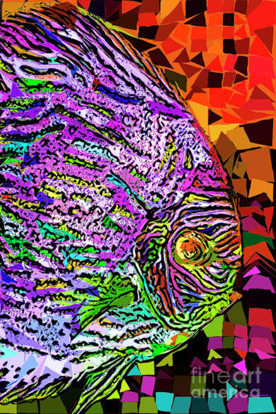 Photograph - Tropical Fish Discus In Abstract 20170325v3 by Wingsdomain Art and Photography