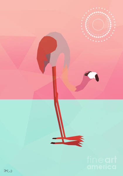 Tropical Flamingo Art Print