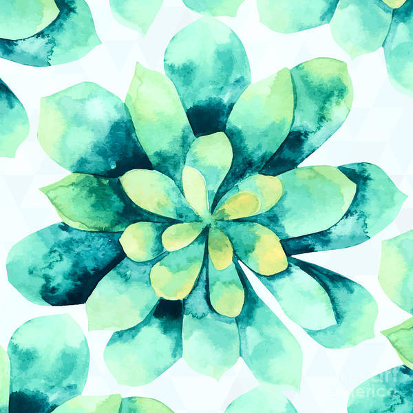 Succulent Wall Art - Painting - Tropical Flower  by Mark Ashkenazi