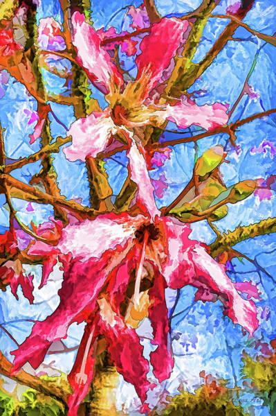 Photograph - Tropical Flowers Design by OLena Art - Lena Owens