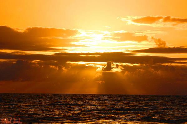 Ocean Sunrise Wall Art - Photograph - Tropical Hawaiian Sunset by Michael Rucker