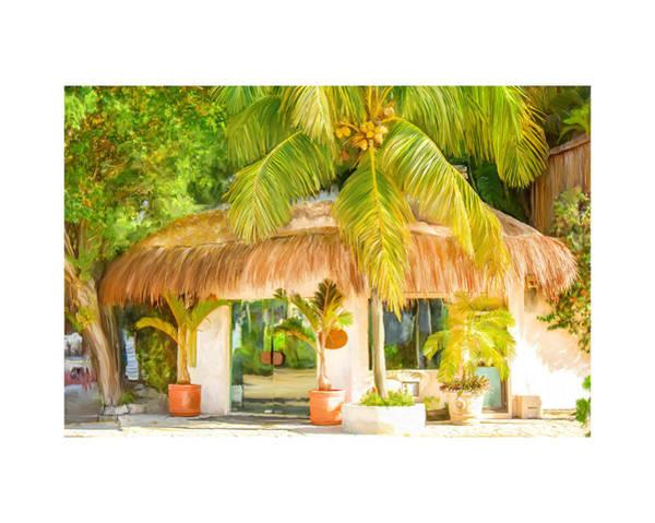 Tropical Hut Art Print
