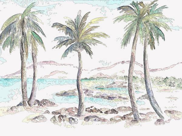 Digital Art - Tropical Island by Elizabeth Lock