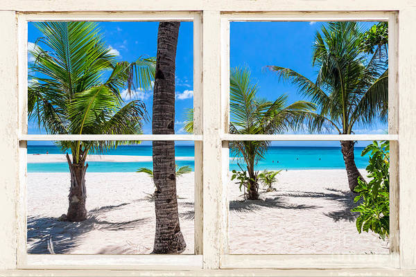 Photograph - Tropical Island Rustic Window View by James BO Insogna