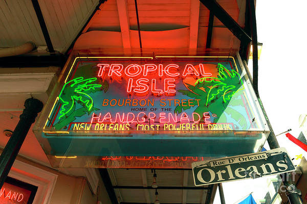 Wall Art - Photograph - Tropical Isle On Bourbon Street New Orleans by John Rizzuto