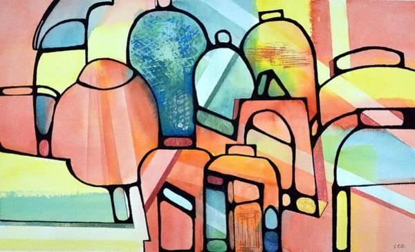 Tropical Jars Art Print