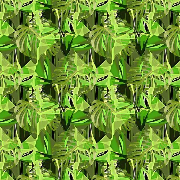 Banana Leaf Mixed Media - Tropical Jungle Greens by Gravityx9 Designs