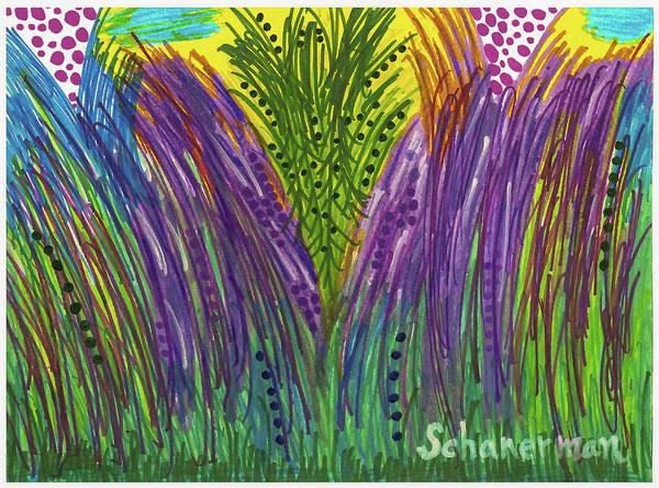 Drawing - Tropical Jungle by Susan Schanerman