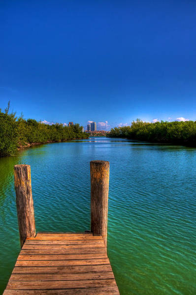 Fisher Island Photograph - Tropical Lagoon by William Wetmore