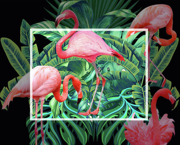 Flamingo Flower Wall Art - Photograph - Tropical Mood  by Mark Ashkenazi