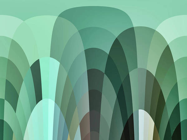 Digital Art - Tropical Mounds Abstract by Kathy K McClellan