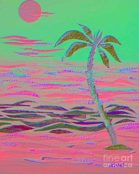 Hot Pink Coconut Palm Art Print