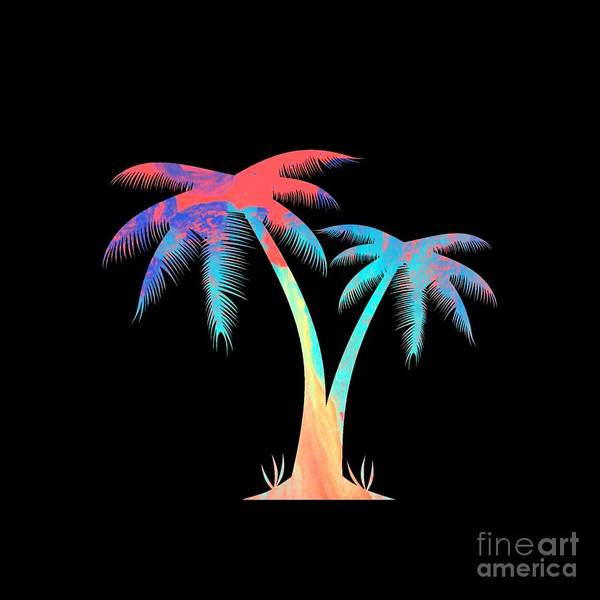 Digital Art - Tropical Palm Trees by Rachel Hannah