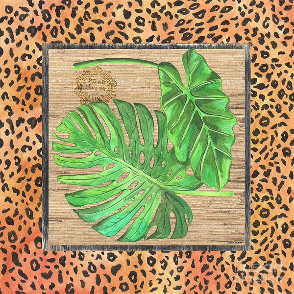 Framed Painting - Tropical Palms 2 by Debbie DeWitt