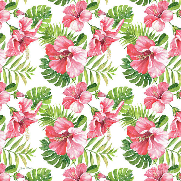 Hibiscus Painting - Tropical Paradise-jp3962 by Jean Plout