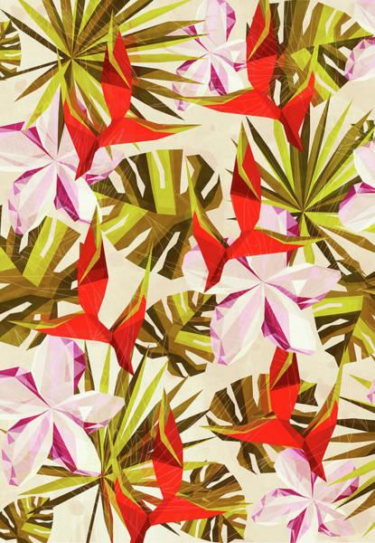 Wall Art - Digital Art - Tropical Pattern by Vess DSign
