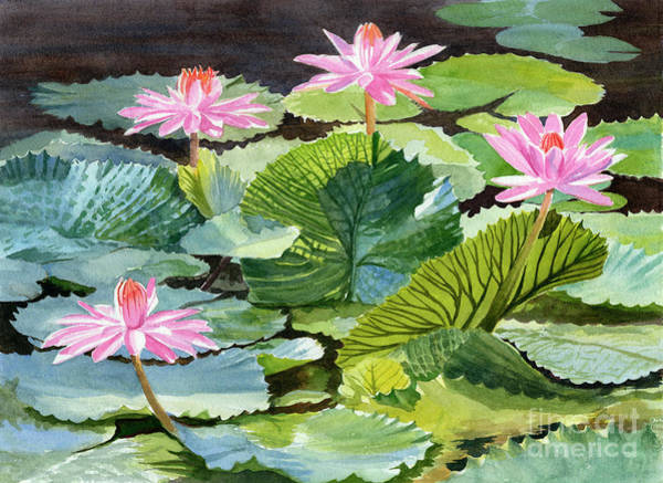Wall Art - Painting - Tropical Pond Textures by Sharon Freeman