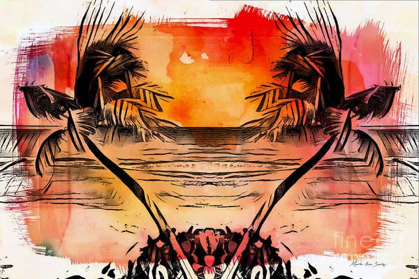 Digital Art - Tropical Seascape Digital Art C7717 by Mas Art Studio