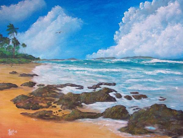 Painting - Tropical Seascape by Tony Rodriguez