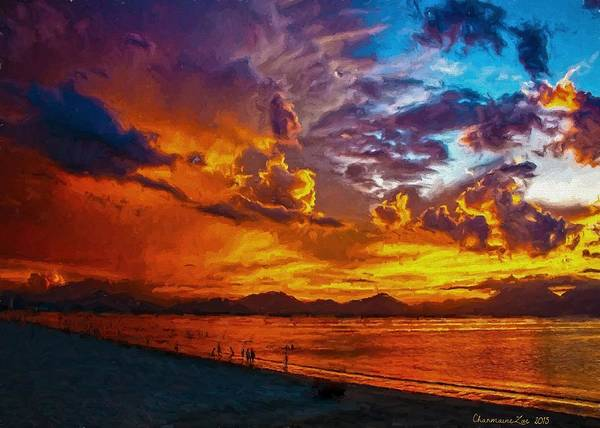 Digital Art - Tropical Twilight II by Charmaine Zoe