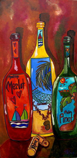 Painting - Tropical Wine by Patti Schermerhorn
