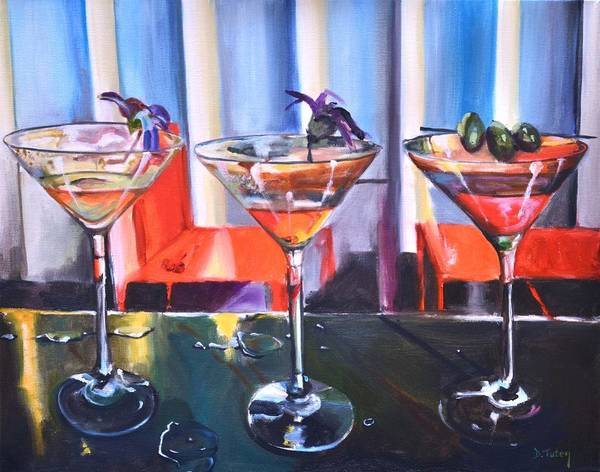 Painting - Tropicaltinis by Donna Tuten
