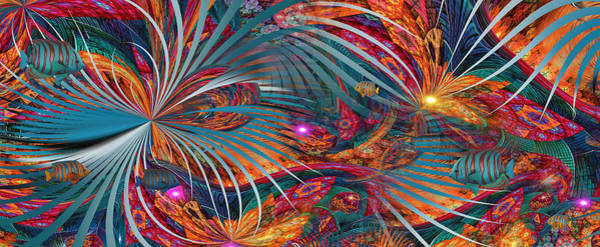 Fractal Landscape Digital Art - Tropico...nashville by Phil Sadler