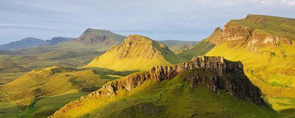 Photograph - Trotternish Summer Morning Panorama by Stephen Taylor