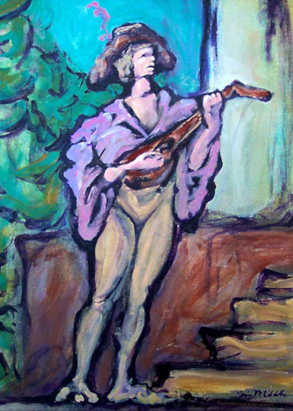 Painting - Troubadour by Kevin Middleton