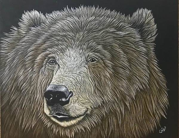 Grizzlies Mixed Media - Trouble On The Wind, Grizzly by Joe Watkins