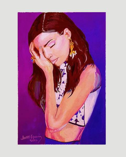 Painting - Troubled by Janet Garcia