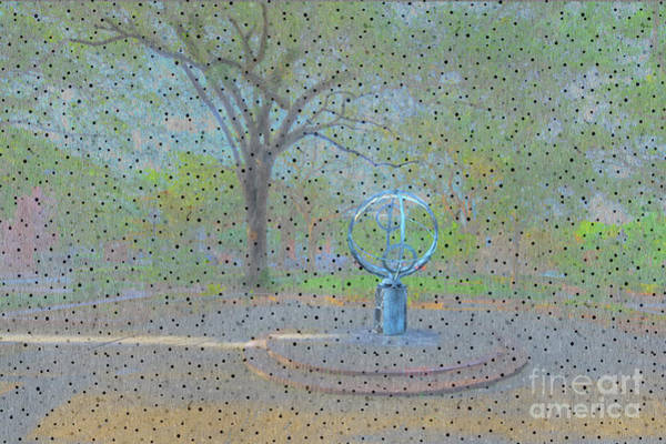 Park Bench Digital Art - Troup Square  by Larry Braun