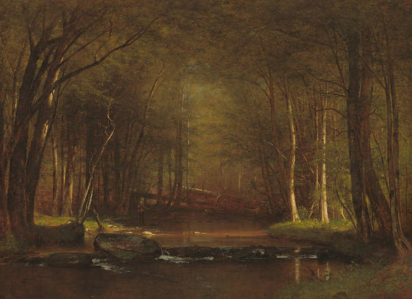 Painting - Trout Brook In The Catskills by Worthington Whittredge