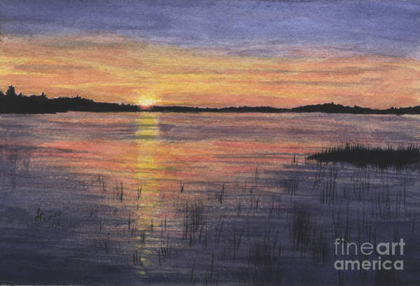 Painting - Trout Lake Sunset II by Lynn Quinn