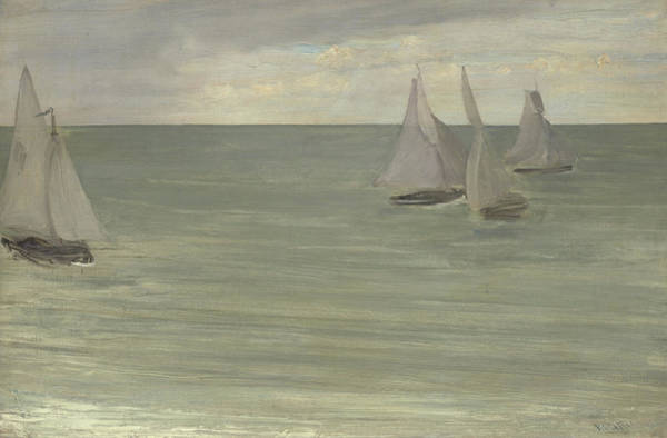 Normandy Painting - Trouville  Grey And Green, The Silver Sea by James Abbott McNeill Whistler