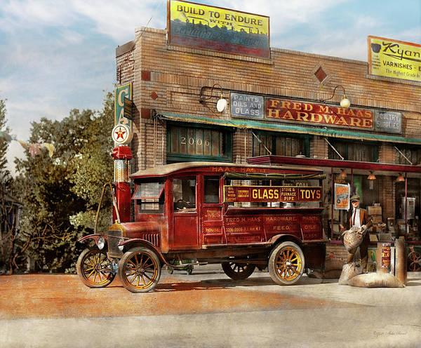 Photograph - Truck - Delivery - Haas Has It 1924 by Mike Savad