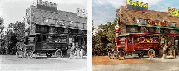 Photograph - Truck - Delivery - Haas Has It 1924 - Side By Side by Mike Savad