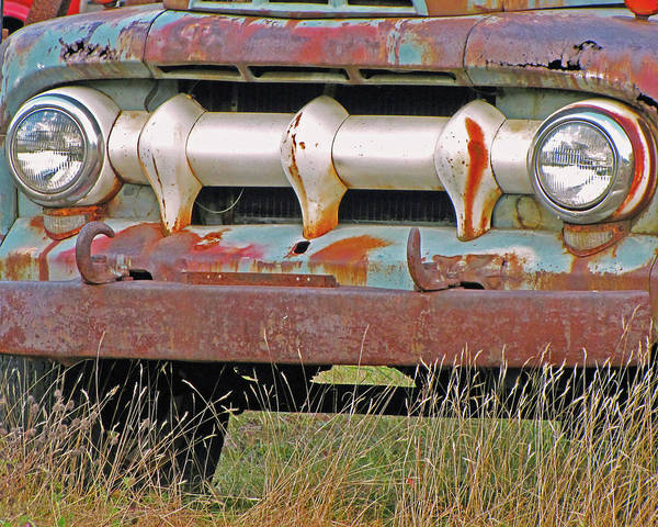 Photograph - Truck In The Grass  by Lynda Lehmann