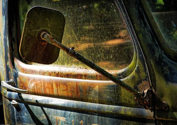 Wrecking Yard Photograph - Truck Rearview Mirror by Kevin Felts