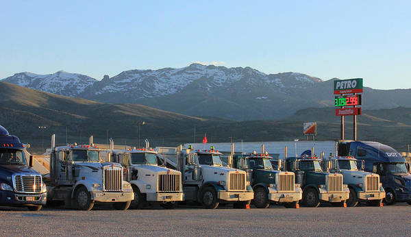 Photograph - 2d11107-truck Stop In Nevada  by Ed  Cooper Photography