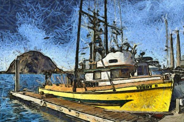 Photograph - Trudy S Fishing Boat Morro Bay California Abstract by Floyd Snyder