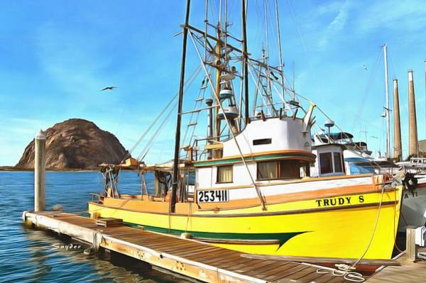 Photograph - Trudy S Fishing Boat Morro Bay California by Floyd Snyder
