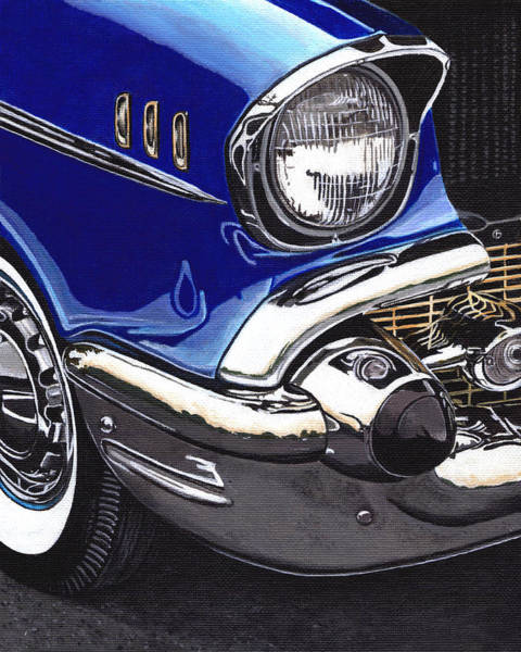 Painting - True Blue '57 by Daniel Carvalho