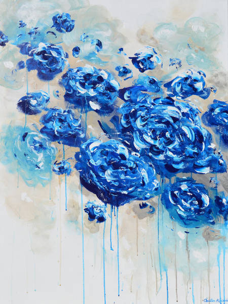 Wall Art - Painting - True Blue by Christine Bell