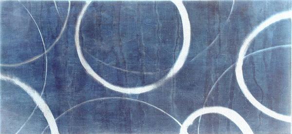 Wall Art - Painting - True Blue Ensos by Julie Niemela