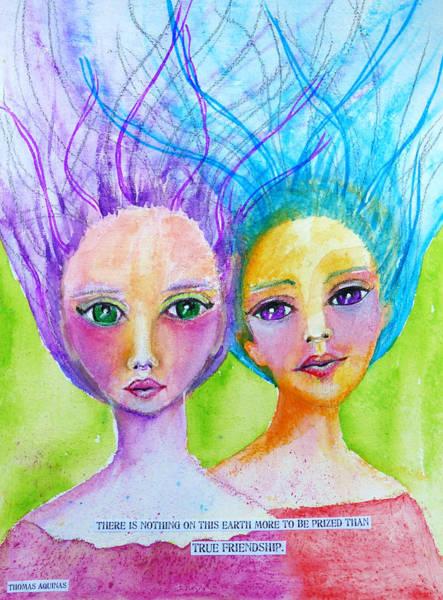 Friend Mixed Media - True Friendship by Lynn Colwell