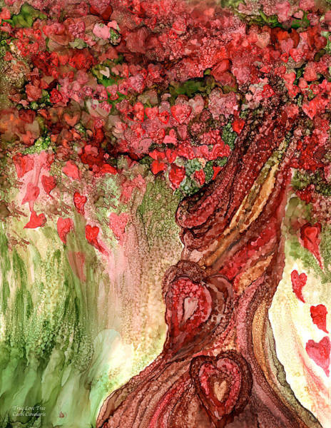 Mixed Media - True Love Tree by Carol Cavalaris