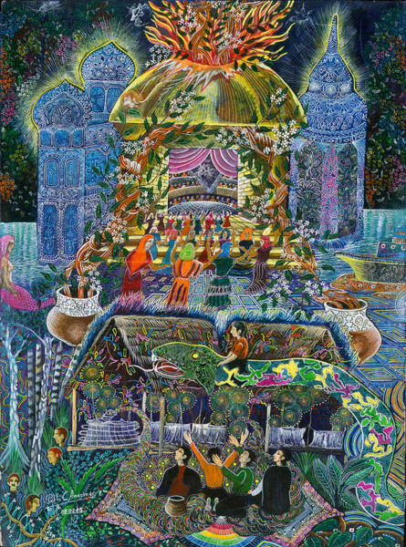 Art Print featuring the painting Trueno Ayahuasca  by Pablo Amaringo